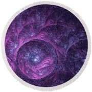 Dragon Nebula Reloaded Round Beach Towel