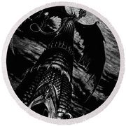 Dragon Tower Round Beach Towel by Stanley Morrison