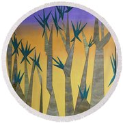 Dragon Trees Round Beach Towel