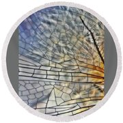 Dragonfly Wing Round Beach Towel