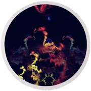Dragons - Abstract Fantasy Art Round Beach Towel