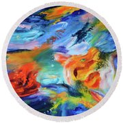 Dragon's Head Nebula Round Beach Towel