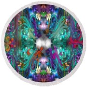 Dragons Of The Temple Round Beach Towel