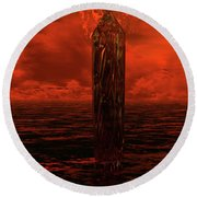 Dragon's Spire Round Beach Towel