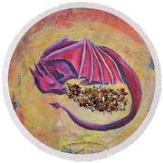 Dragon's Treasure Round Beach Towel