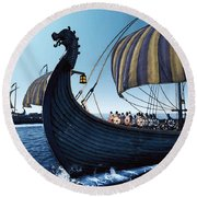 Drakkar - 01 Round Beach Towel