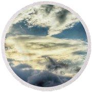 Drama Clouds Round Beach Towel