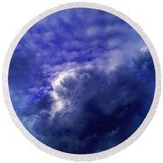 Dramatic Cumulus Sky Round Beach Towel