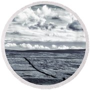 Round Beach Towel featuring the photograph Dramatic Landscape  by RKAB Works