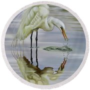 Dramatic Reflections Round Beach Towel by Phyllis Beiser