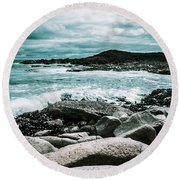 Dramatic Western Tasmania Beach Round Beach Towel