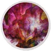 Dramatic White And Purple 0273 Idp_2 Round Beach Towel