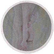 Draped Nude Round Beach Towel
