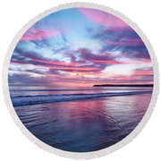Drapery Round Beach Towel