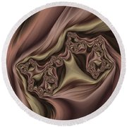 Drapes Abstract Round Beach Towel