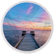 Drawn To Beauty Round Beach Towel