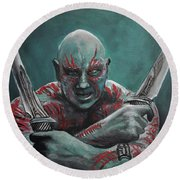 Drax The Destroyer Round Beach Towel