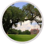 Drayton Hall Plantation Charleston Round Beach Towel