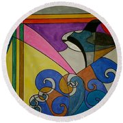 Dream 176 Round Beach Towel