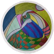 Dream 269 Round Beach Towel