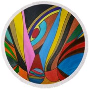 Dream 283 Round Beach Towel