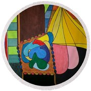 Dream 286 Round Beach Towel