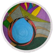 Dream 297 Round Beach Towel