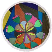 Dream 302 Round Beach Towel