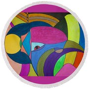 Dream 303 Round Beach Towel
