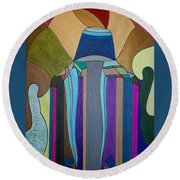 Dream 308 Round Beach Towel