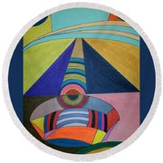 Dream 309 Round Beach Towel