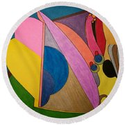 Dream 328 Round Beach Towel