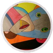 Dream 334 Round Beach Towel
