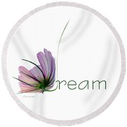 Round Beach Towel featuring the digital art Dream by Ann Lauwers