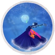 Dream Dancing Round Beach Towel