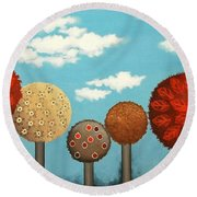 Dream Grove Round Beach Towel
