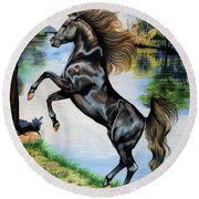 Dream Horse Series 3015 Round Beach Towel by Cheryl Poland