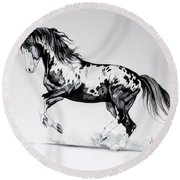 Dream Horse Series - Painted Dust Round Beach Towel by Cheryl Poland