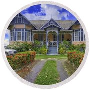 Dream House Round Beach Towel