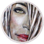Dream In Amber 120809 Round Beach Towel by Selena Boron