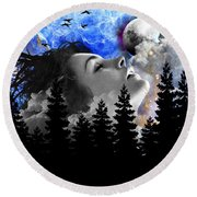 Dream Is The Space To Fly Farther Round Beach Towel by Paulo Zerbato