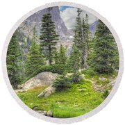 Dream Lake Round Beach Towel by Juli Scalzi