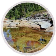 Round Beach Towel featuring the photograph Dream Of A Stream by Sean Sarsfield