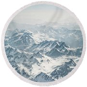 Dream Of Alps Round Beach Towel