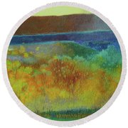 Dream Of Dakota West Round Beach Towel