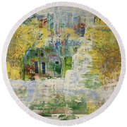 Round Beach Towel featuring the painting Dream Of Dreams. by Sima Amid Wewetzer