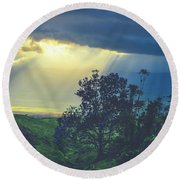 Round Beach Towel featuring the photograph Dream Of Mortal Bliss by Sharon Mau