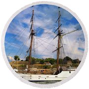 Dream On The Fjord Round Beach Towel
