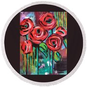 Dream Roses Round Beach Towel