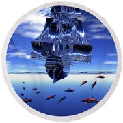 Dream Sea Voyager Round Beach Towel